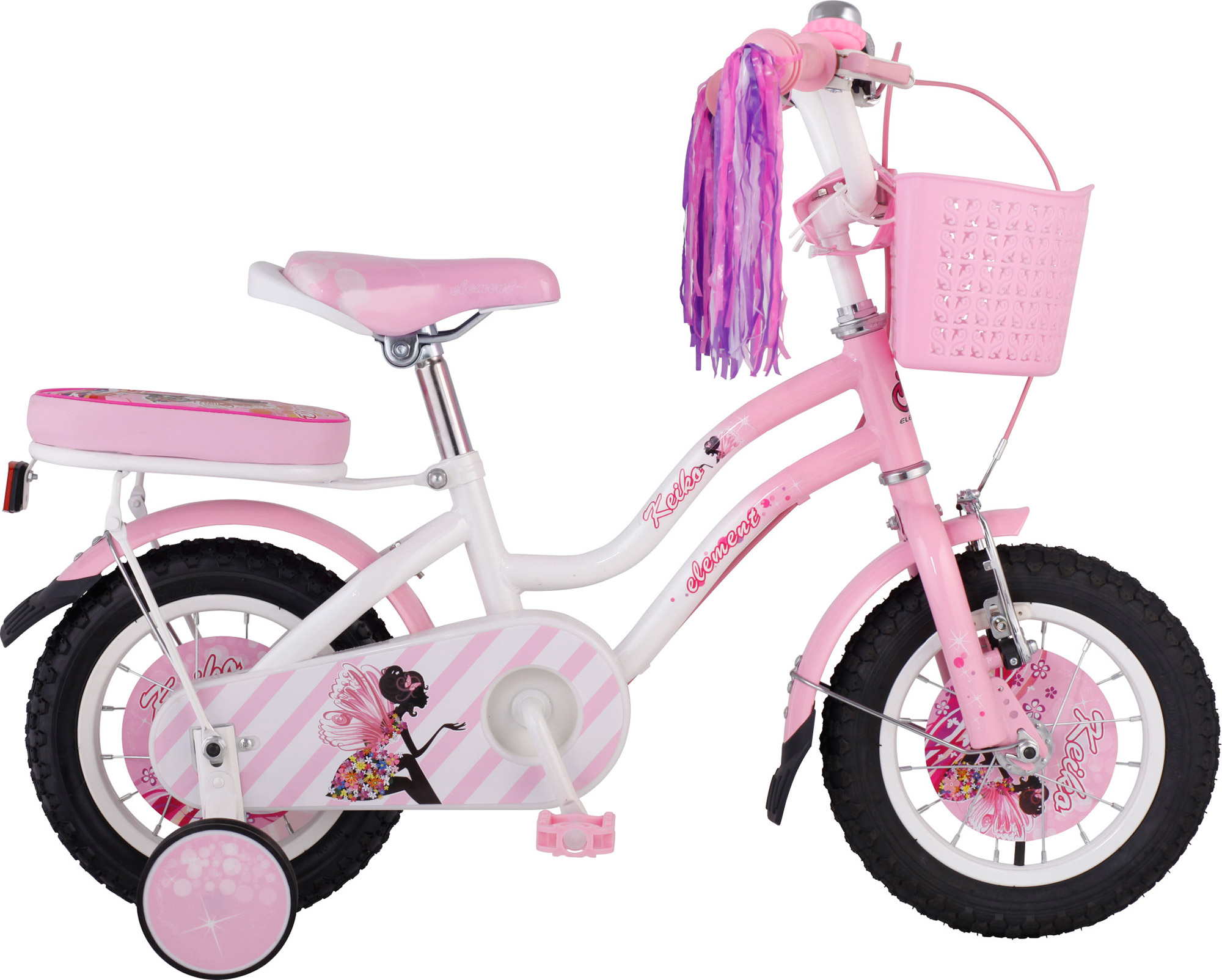 Keiko 12 Pink White - Sepeda Element - Element Bike