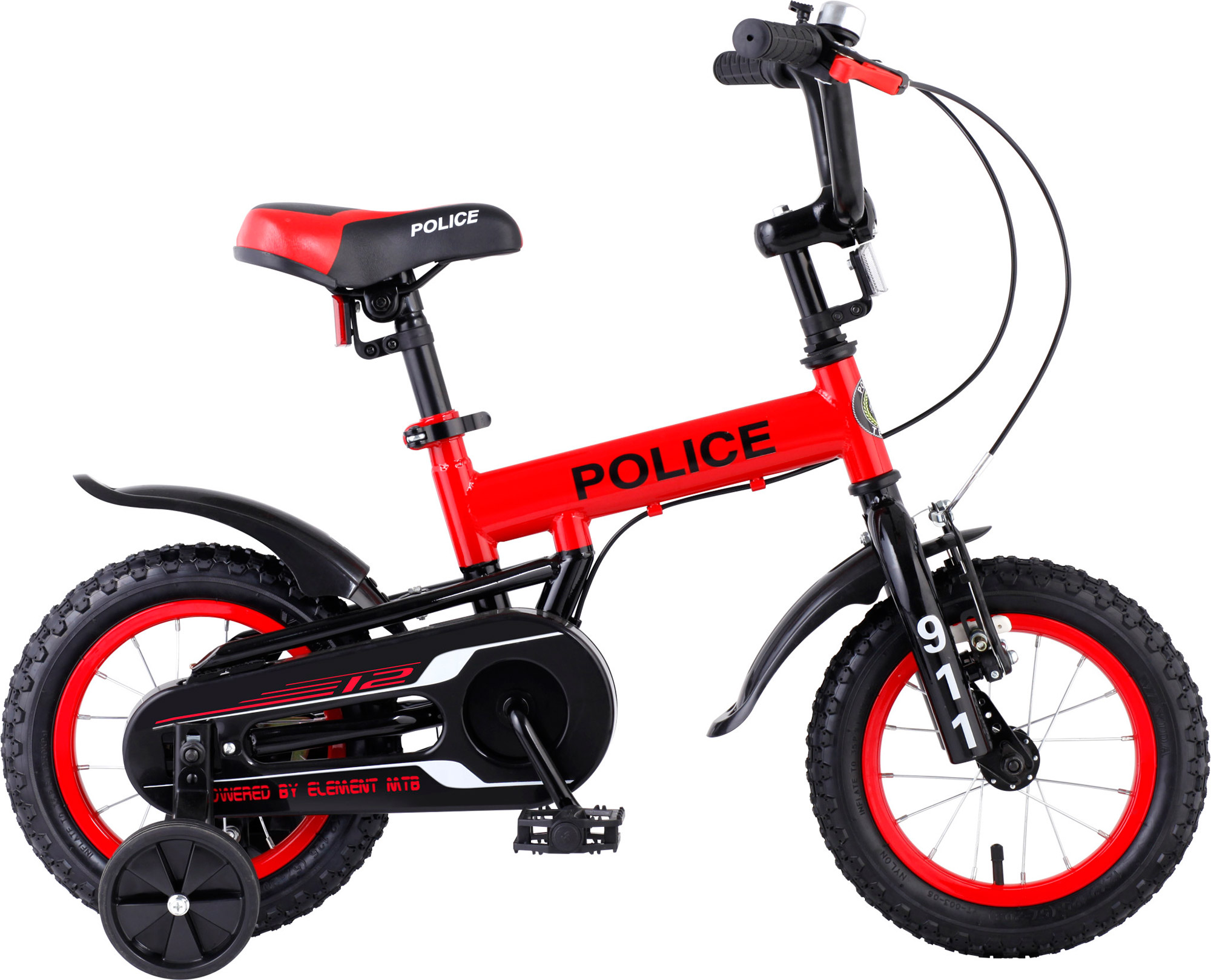 Police 12 Red - Sepeda Element - Element Bike